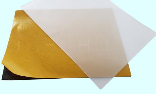 Mousepad Set, Zellkautschuk 210 x 270, 3 mm, schwarz, sk, + Photonex-Laminiertasche 1 VE = 25 Stk.