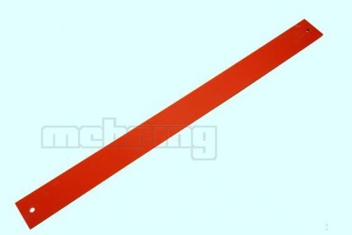 NAGEL ET CB 80 Bohrleiste, Schiebetisch 40 x 500 mm, rot, eckig mit 2 Löchern