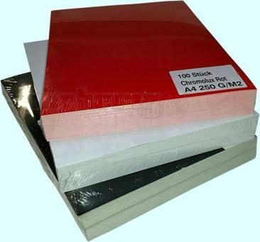 Deckblätter Karton, Chromo, glänzend, 250g A4, weiß